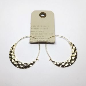 NWOT Anthropologie Crescent Moon Hoop